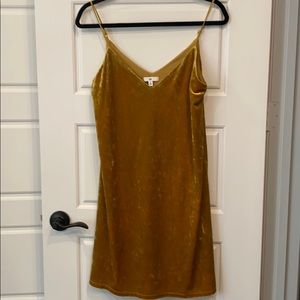 BP mini dress, gold, size S- new with tags!